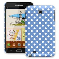White Polka Dot on Periwinkle Samsung Galaxy Note ColorStrong Slim-Pro Case