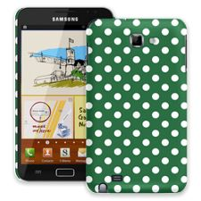 White Polka Dot on Forest Green Samsung Galaxy Note ColorStrong Slim-Pro Case