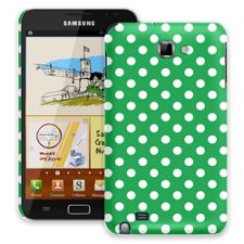 White Polka Dot on Emerald Samsung Galaxy Note ColorStrong Slim-Pro Case