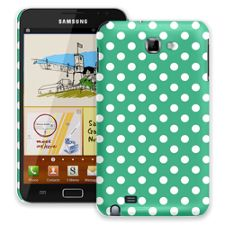 White Polka Dot on Teal Green Samsung Galaxy Note ColorStrong Slim-Pro Case
