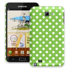 White Polka Dot on Lime Samsung Galaxy Note ColorStrong Slim-Pro Case