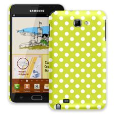 White Polka Dot on Sour Apple Samsung Galaxy Note ColorStrong Slim-Pro Case