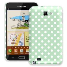 White Polka Dot on Spring Green Samsung Galaxy Note ColorStrong Slim-Pro Case
