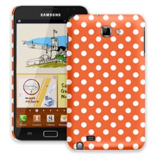 White Polka Dot on Tangerine Samsung Galaxy Note ColorStrong Slim-Pro Case