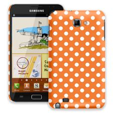White Polka Dot on Orange Samsung Galaxy Note ColorStrong Slim-Pro Case