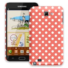 White Polka Dot on Terracotta Samsung Galaxy Note ColorStrong Slim-Pro Case