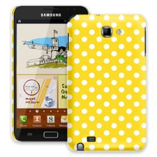 White Polka Dot on Sunshine Samsung Galaxy Note ColorStrong Slim-Pro Case