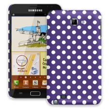 White Polka Dot on Deep Purple Samsung Galaxy Note ColorStrong Slim-Pro Case