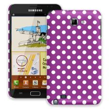 White Polka Dot on Purple Samsung Galaxy Note ColorStrong Slim-Pro Case
