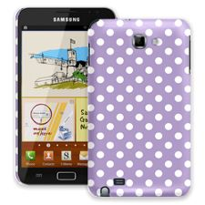 White Polka Dot on Lavender Samsung Galaxy Note ColorStrong Slim-Pro Case