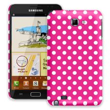 White Polka Dot on Hot Pink Samsung Galaxy Note ColorStrong Slim-Pro Case
