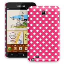 White Polka Dot on Raspberry Samsung Galaxy Note ColorStrong Slim-Pro Case