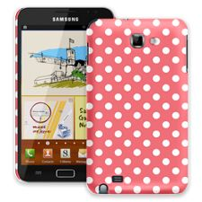 White Polka Dot on Coral Samsung Galaxy Note ColorStrong Slim-Pro Case