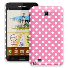 White Polka Dot on Bubblegum Samsung Galaxy Note ColorStrong Slim-Pro Case