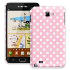 White Polka Dot on Baby Pink Samsung Galaxy Note ColorStrong Slim-Pro Case