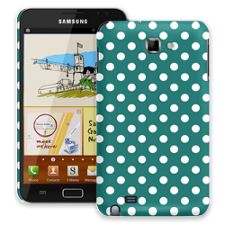 White Polka Dot on Ocean Teal Samsung Galaxy Note ColorStrong Slim-Pro Case