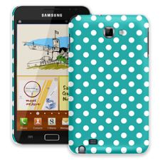 White Polka Dot on Turquoise Samsung Galaxy Note ColorStrong Slim-Pro Case