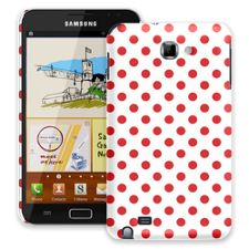 Red Polka Dot on White Samsung Galaxy Note ColorStrong Slim-Pro Case