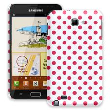Berry Polka Dot on White Samsung Galaxy Note ColorStrong Slim-Pro Case