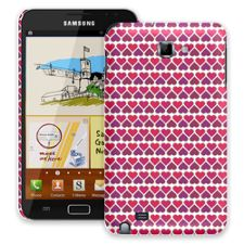 Hearts White Samsung Galaxy Note ColorStrong Slim-Pro Case