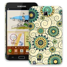 Swirls Yellow Samsung Galaxy Note ColorStrong Slim-Pro Case