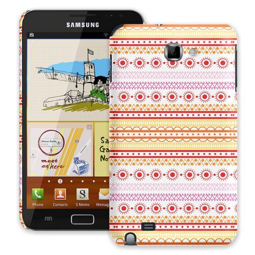 Orange Tribal Samsung Galaxy Note ColorStrong Slim-Pro Case