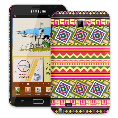 Happy Bright Tribal Samsung Galaxy Note ColorStrong Slim-Pro Case