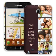 Chocolate Live Laugh Love Samsung Galaxy Note ColorStrong Slim-Pro Case
