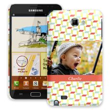 Retro Blocks Samsung Galaxy Note ColorStrong Slim-Pro Case