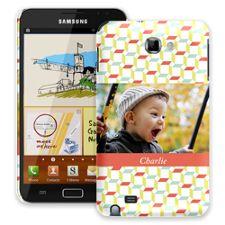 Retro Blocks Samsung Galaxy Note ColorStrong Slim-Pro Case
