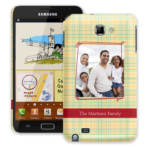 Retro Plaid Samsung Galaxy Note ColorStrong Slim-Pro Case