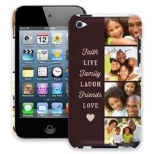 Chocolate Live Laugh Love iPod Touch 4 ColorStrong Slim-Pro Case