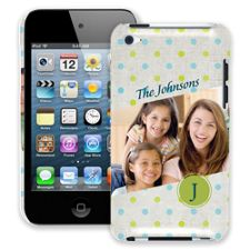 Polka Dot Muslin iPod Touch 4 ColorStrong Slim-Pro Case