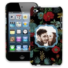 Bright Floral on Black iPod Touch 4 ColorStrong Slim-Pro Case