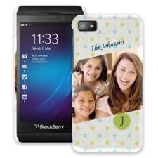 Polka Dot Muslin BlackBerry Z10 ColorStrong Slim-Pro Case
