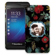 Bright Floral on Black BlackBerry Z10 ColorStrong Slim-Pro Case
