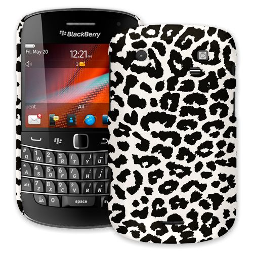 Black and White Leopard BlackBerry 9900/9930 Bold ColorStrong Slim-Pro Case
