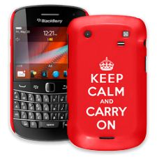 Keep Calm and Carry On BlackBerry 9900/9930 Bold ColorStrong Slim-Pro Case