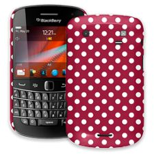 White Polka Dot on Crimson BlackBerry 9900/9930 Bold ColorStrong Slim-Pro Case