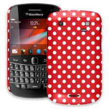 White Polka Dot on Red BlackBerry 9900/9930 Bold ColorStrong Slim-Pro Case