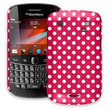 White Polka Dot on Berry BlackBerry 9900/9930 Bold ColorStrong Slim-Pro Case