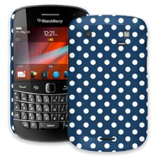 White Polka Dot on Navy BlackBerry 9900/9930 Bold ColorStrong Slim-Pro Case