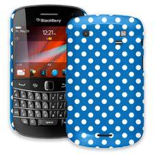 White Polka Dot on Blue BlackBerry 9900/9930 Bold ColorStrong Slim-Pro Case