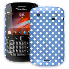 White Polka Dot on Periwinkle BlackBerry 9900/9930 Bold ColorStrong Slim-Pro Case