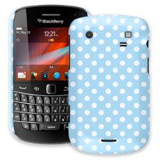 White Polka Dot on Baby Blue BlackBerry 9900/9930 Bold ColorStrong Slim-Pro Case