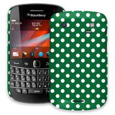 White Polka Dot on Forest Green BlackBerry 9900/9930 Bold ColorStrong Slim-Pro Case