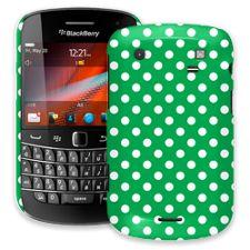 White Polka Dot on Emerald BlackBerry 9900/9930 Bold ColorStrong Slim-Pro Case
