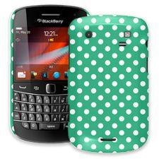 White Polka Dot on Teal Green BlackBerry 9900/9930 Bold ColorStrong Slim-Pro Case