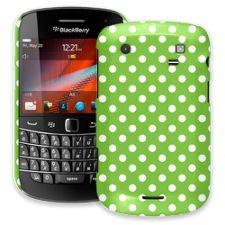 White Polka Dot on Lime BlackBerry 9900/9930 Bold ColorStrong Slim-Pro Case