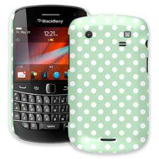 White Polka Dot on Spring Green BlackBerry 9900/9930 Bold ColorStrong Slim-Pro Case